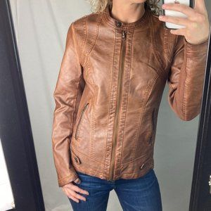 Sebby Collection Faux Leather Jacket